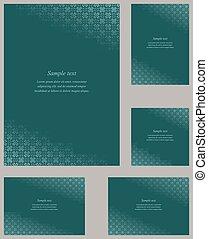 Page corner design template for invitation