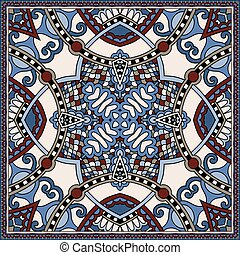 ornamental, paisley, este, uso, bandanna., tradicional,...