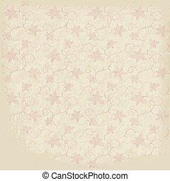 ornamental, papel, antigas, fundo