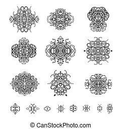 Ornamental patterns in the oriental style