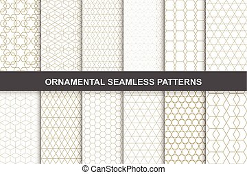 Ornamental patterns - seamless collection.