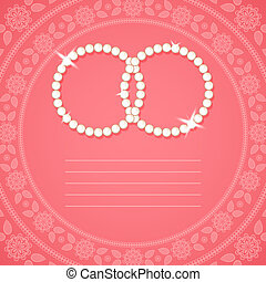 ornamental, plano de fondo, para, invitación boda