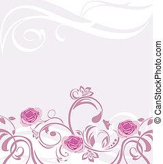 ornamental, Plano de fondo, rosas