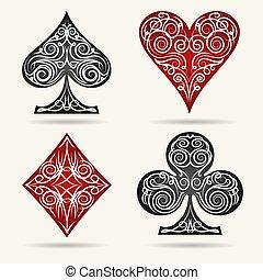 Card Suits Set