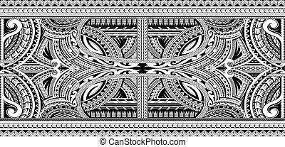 ornamental, polynesian, tatuaje