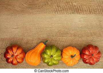 Ornamental pumpkin border