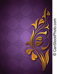 Ornamental purple background