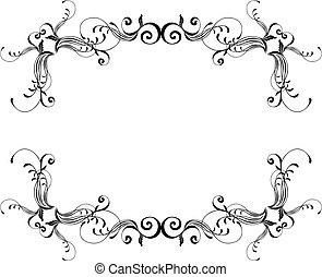 ornamental, ramme, vektor