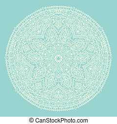 ornamental, redondo, renda, padrão, círculo, fundo, com,...