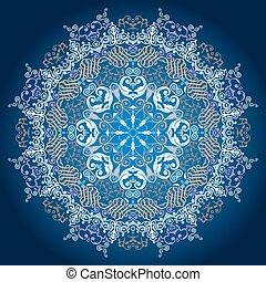ornamental, redondo, renda, pattern.delicate, círculo, fundo