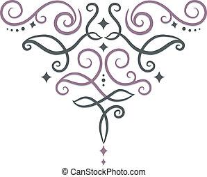 ornamental, remolinos