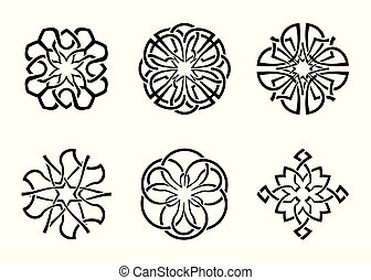 ornamental round celtic frame set 05