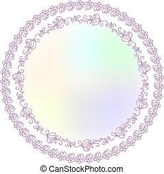 Ornamental Round Lace Border Pattern, Circle Background