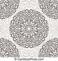 Ornamental round lace.
