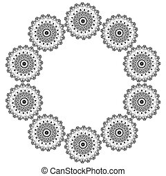 Ornamental round lace pattern. Abstract ornament. Orient traditional ornament.