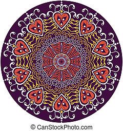 ornamental round lace