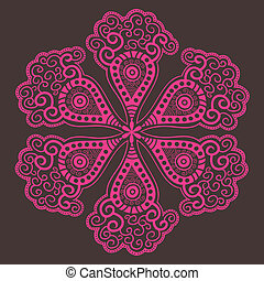 ornamental round lace