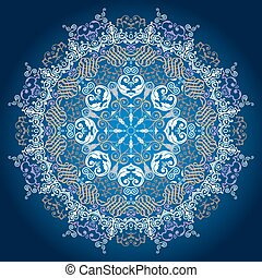 Ornamental round lace pattern. Delicate circle background