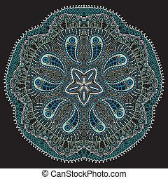 ornamental round lace, snowflake