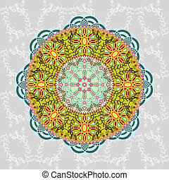 Ornamental round pattern. Vector ab
