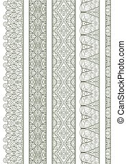Ornamental Seamless Borders Vector
