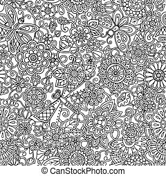 Ornamental seamless ethnic pattern. Can be used for wallpaper, p