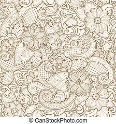 Ornamental seamless ethnic pattern. For wallpaper, pattern fills