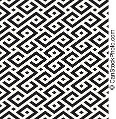ornamental, -, seamless, geométrico, tradicional, vetorial, fundo, africano, formas, repetindo, textura