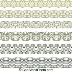 ornamental, seamless, padrão