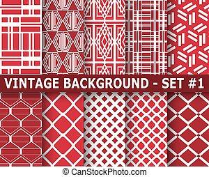 Ornamental seamless patterns