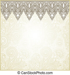 Ornamental seamless stripe, decorative element