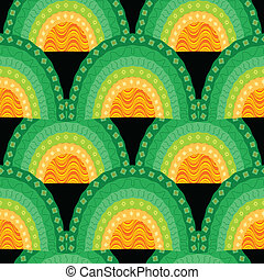 ornamental seamless waves pattern