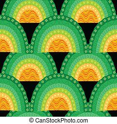 ornamental seamless waves pattern
