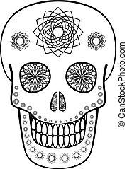 Ornamental Skull - Vector illustration of skull with...