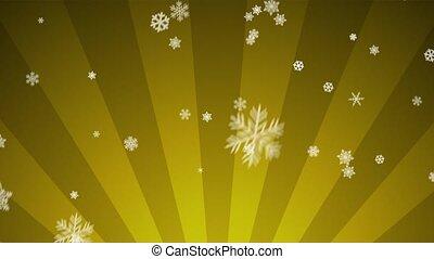 Ornamental Snow on Golden Radial