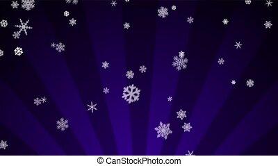Ornamental Snow on Purple Radial - Decorative ornamental...