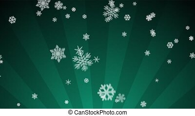 Ornamental Snow on Teal Radial - Decorative ornamental...