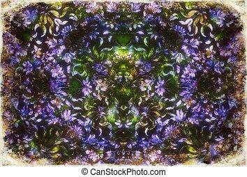 ornamental structure pattern. Floral ornament background. Violet color.