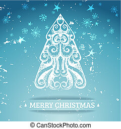 Ornamental stylized christmas background