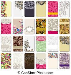 ornamental, tarjeta comercial