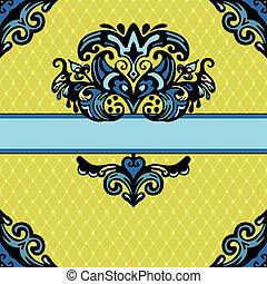 Ornamental vector frame design