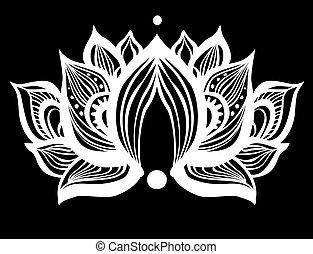 Ornamental vector Lotus flowers