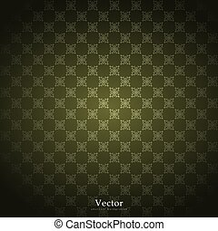 Ornamental vector pattern, arabesque and floral golden elements.