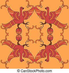 Ornamental vector seamless pattern