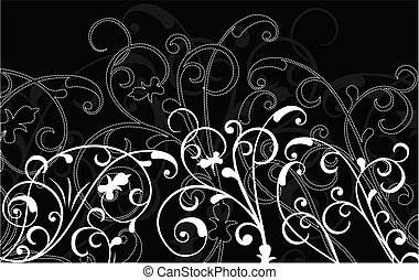 ornamental, vektor, bakgrund