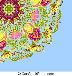 ornamental, vektor, bakgrund.