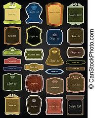 ornamental, vektor, sätta, färgrik, frames.