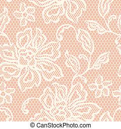 ornamental, viejo, encaje, patrón, seamless, flowers.