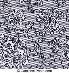 ornamental, viejo, encaje, plano de fondo, flowers., vector,...