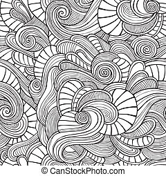 ornamental, vindima, floral, abstratos, seamless, padrão